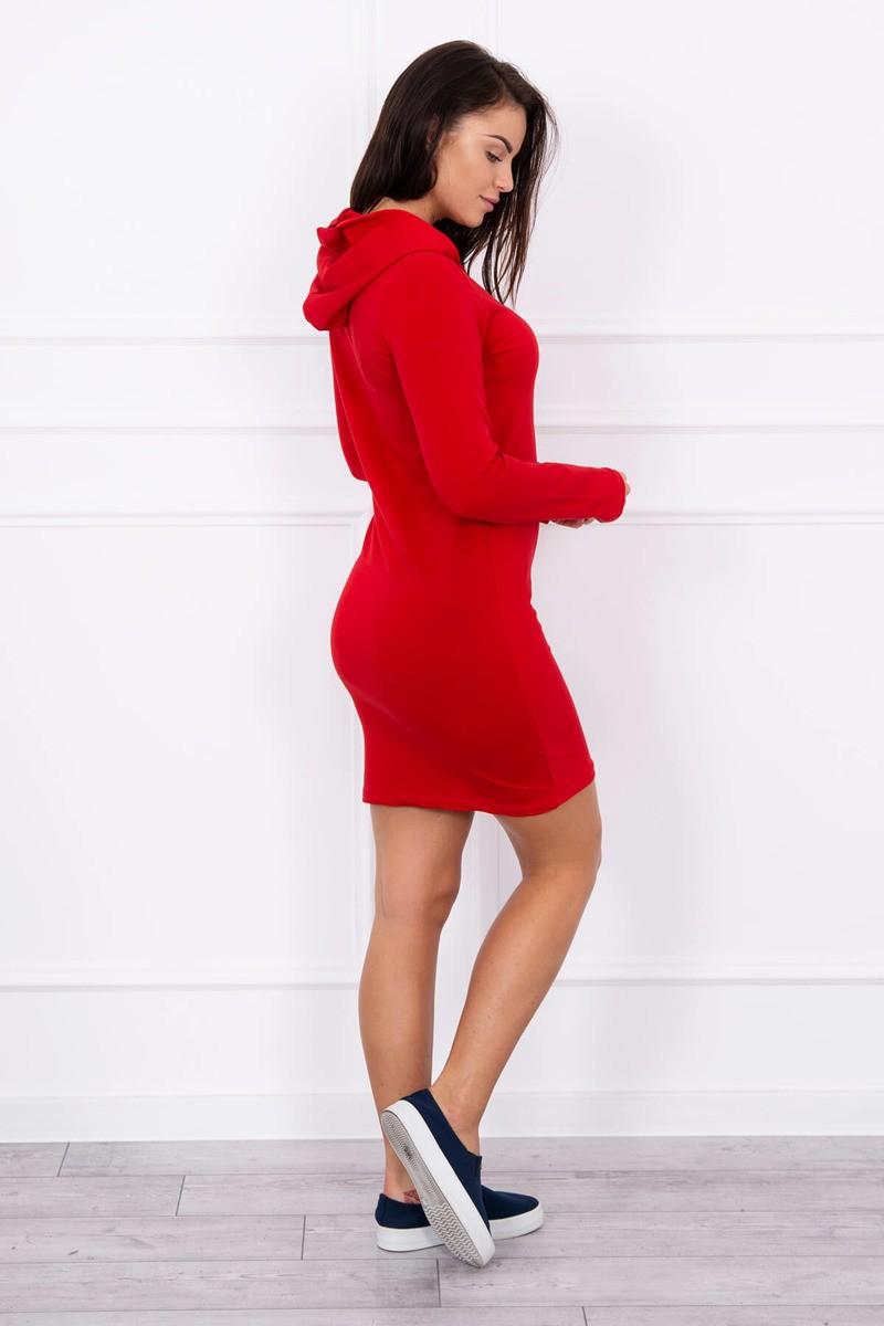 26ae02b43e2a Šaty so zipsom v dekolte červené